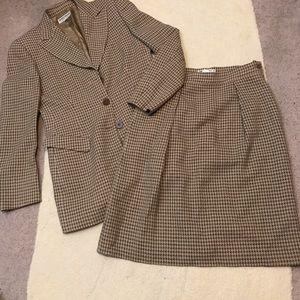 Giorgio Armani Collezioni Herringbone Skirt Suit